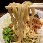 麺や 結 - 全粒粉の太麺ですね