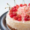MIGNON - 料理写真:【生さくらんぼタルト7号(21cm)】タルト地にさくらんぼのムースとスポンジと生クリーム、上には旬のさくらんぼとココナッツを飾りました。