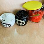 131085628 - おろしニンニク、辛味噌、紅生姜
