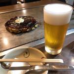 131087520 - 豚玉と生ビール