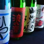 さしみ茶屋 樽寿司 - 2020年初夏の地酒、一例です。