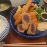 カド珈琲 - ミックスフライ定食 900円