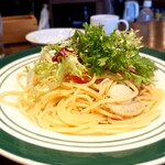 Furenchishokudoubudou - 塩漬けイワシとベビーホタテ、イシラスのスパゲッティ 202006