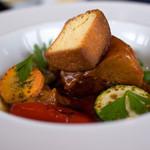 13110300 - メイン料理の「糸島豚のトマト煮込み」です。見た目もお味もとっても上質。
