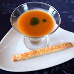 13110302 - トマトとパプリカのガスパチョ(冷製スープ)。めちゃ美味でした。