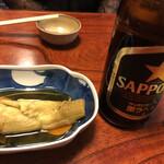とんかつすずき - 茄子とビール