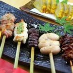 西銀 ぼたん - 料理写真:天草大王の串盛り合わせです!