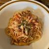 サンデー - 料理写真:ベーコンときのこ トマトパスタ