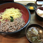 鴨錦 - 料理写真:冷の2種盛と玉子かけごはん