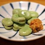 高太郎 - 天豆 鯛味噌で