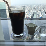 カフェ ド シエル - アイスコーヒー、お代り1杯無料