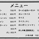 Sakaeyamirukuhoru - 壁メニュー