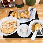 ぎょうざの満洲 - 餃子ライス(玄米)