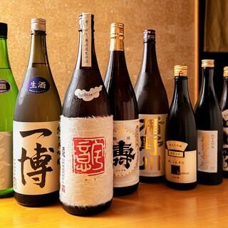 寿司に合うお酒は、徹底的にこだわってます。
