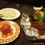 グリルキャピタル東洋亭 - 百年洋食ハンバーグステーキAセット 1380円