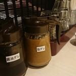 溶岩焼肉ダイニング bonbori - 塩ダレと醤油ダレは交互に