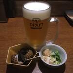 131140793 - 選べるビールセット ※生ビール、小鉢二品