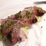 131144238 - ⚫長崎県産イサキのカルパッチョ  マッシュルームときゅうり