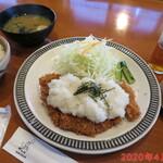 チャールスとん - しぐれロースカツ定食 1510円
