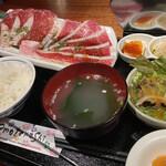 Yakinikuya - 焼きしゃぶランチ(肉増し)