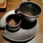 銀しゃりdining 火土木 - 日本酒。味も良かったですが、器もいいですよね。