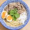 スープメン - 料理写真:牛肉らぁ麺(1食500円)/トッピングは牛肉のみついています