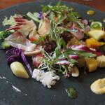 131162586 - 6月の野菜畑 ハマダイのカルパッチョ