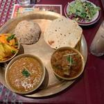 インドレストラン&バー ムナル - ダルバートセット(マトン)