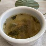 マリーザ浜名湖 - キノコと海苔のスープ。