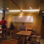 備長 - 壁には、ひつまぶしの食べ方が書いてあります。