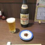 吉祥寺 砂場 - ビール・お通し