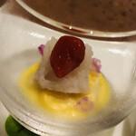 レストラン フウ - ハモとクコの実 コーンのピュレ