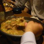 地酒とそば・京風おでん 三間堂 - 豚肉辛みそ陶板焼き
