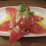立ち呑みの さのや - 福岡のおいしいトマト 260円 (2019.12)