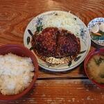 とんかつ 五郎十 - 2020年6月 ミンチゴマ入生姜焼定食 900円