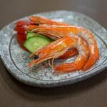 中華料理 三河屋 - 有頭エビの紹興酒漬け