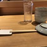 魚河岸 次郎松 - テーブルセット。
