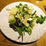 131199638 - 今日のおまかせ前菜~ハネージュメロンとフェタチーズのサラダ
