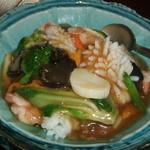 中國名菜 孫 - 野菜と海鮮のかけごはん