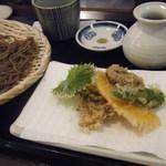 手打ちそば なかむら - 野菜天ぷら二色