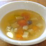 裏口の珈琲屋 - お食事セット 950円 の野菜スープ