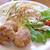裏口の珈琲屋 - 料理写真:お食事セット 950円 の自家製メンチカツ、サラダ