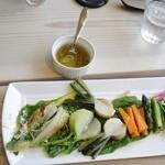 ワイズドッグカフェ ル・ジャルダン - 有機野菜のバーニャカウダー