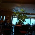 エクセルシオールカフェ - 喫煙席のある2F。暗めの照明で落ち着ける。
