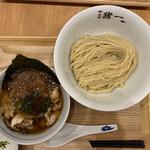 麺屋 猪一 離れ - 白菜と椎茸の鶏せせりつけそば(薄口醤油) 1,200円