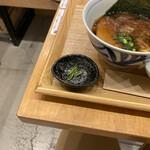 麺屋 猪一 離れ - 京の都もち豚ちゃーしゅー 追い鰹つけそば(黒醤油) 1,000円 (すだち)