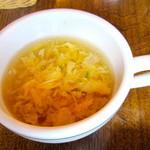 ブロンコビリー  - 卵スープ