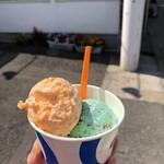ブルーシールアイスクリーム - カップ。