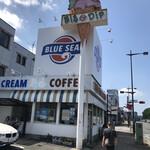 ブルーシールアイスクリーム - ロードサイドにあります。