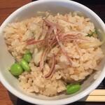 ソバキチ - 枝豆と生姜ご飯